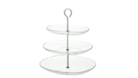 Image of a 3 Tier Server - Clear Glass