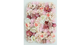 Image of a Artificial Flower Wall Panels - Dusty Rose & Pink