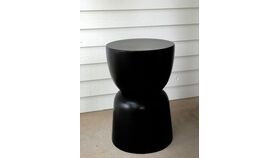 Image of a Black Hourglass Accent Tables