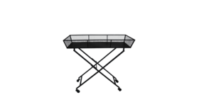 Image of a Black Rectangle Cart