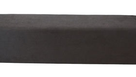 Image of a Minotti Straight Bench Slipcover - Charcoal