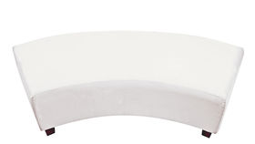 Image of a Minotti Curved Bench Slipcover - White