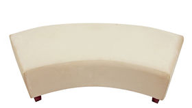 Image of a Minotti Curved Bench Slipcover - Cappuccino