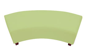 Image of a Minotti Curved Bench Slipcover - Honeydew