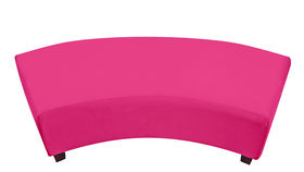 Image of a Minotti Curved Bench Slipcover - Hot Pink
