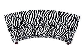 Image of a Minotti Curved Bench Slipcover - Zebra