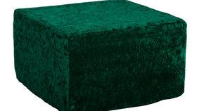 Image of a High Back Ottoman Slipcover - Emerald Velvet