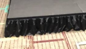 "Image of a 12"" Black Stage Skirts"