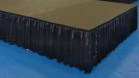 "Image of a 24"" Black Stage Skirts"