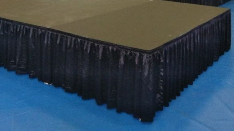 "Picture of a 24"" Black Stage Skirts"
