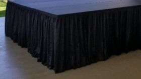 Image of a 48' Black Stage Skirts