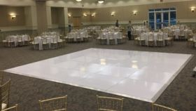 Image of a 20x20 White Glossy Dance Floor
