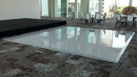 Image of a 16x16 White Glossy Dance Floor
