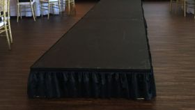 "Image of a 4x24' Stage (12"" Height)"