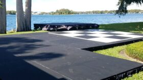 Image of a 16x16' Black Subfloor