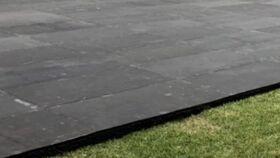 Image of a 12x12' Black Subfloor