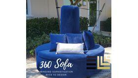 Image of a 360 sofa -