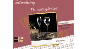 Image of a Glassware - Princess wine glass gold rim