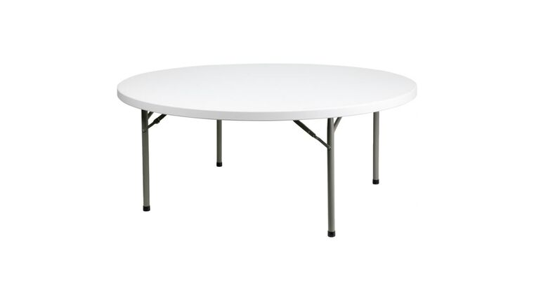 "72"" Round Folding Table : goodshuffle.com"