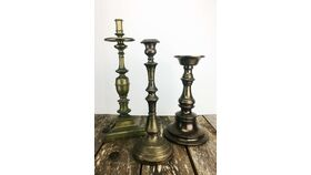 "Image of a 12"" - 17"" Large Brass Candlesticks"