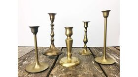 "Image of a 5"" - 9"" Brass Candlesticks"