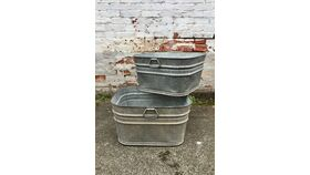 Image of a Galvanized Vintage Buckets