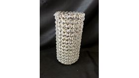 """Image of a 10"""" 4.25"""" Silver Crystal Cylinder"""