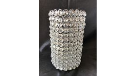 """Image of a 10.5"""" 5.75"""" Silver Crystal Cylinder"""