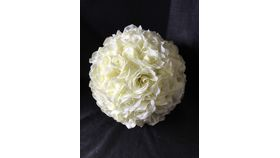 "Image of a 12"" Ivory Rose Ball"
