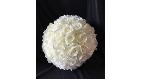 "Image of a 16"" Ivory Rose Ball"