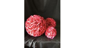 "Image of a 6.5"" Fuschia Rose Ball"