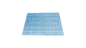 Image of a Blue Geometric Tribal Rug