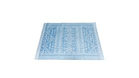 Image of a Blue Geometric Moroccan Rug