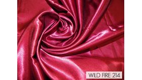 """Image of a 120"""" Round Tablecloth - Satin -Wild Fire Red"""