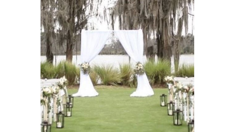 """Picture of a 10' x 12"""" Pipe & Drape - Specialty Backdrop"""