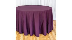 """Image of a 108"""" Tablecloth - Poly - Eggplant"""