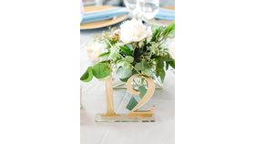 Image of a Acrylic Table Numbers - Gold