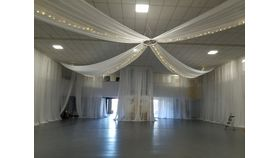 Image of a 4 Panel Ceiling Drape - White