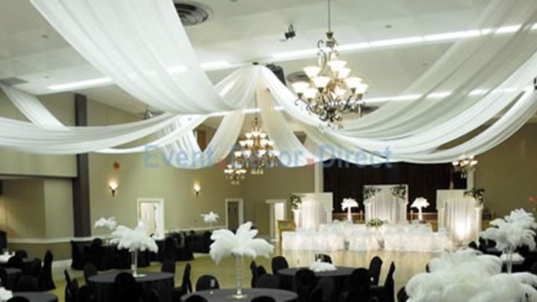 Picture of a 8 Panel Ceiling Drape