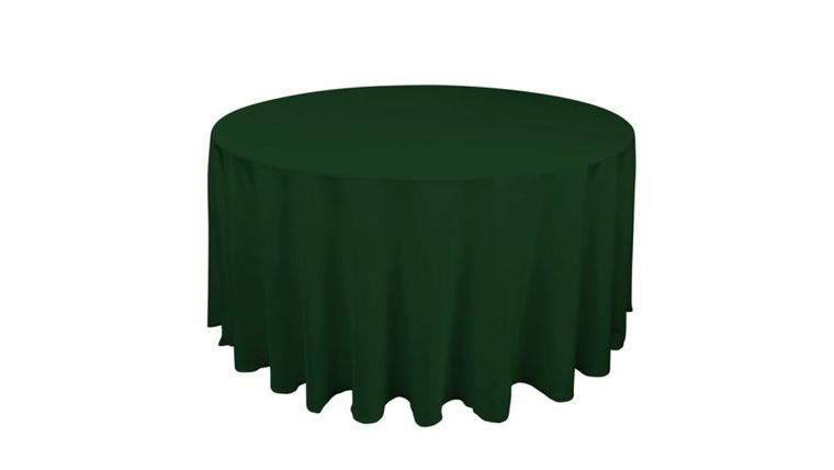 """Picture of a 120"""" Tablecloth - Polyester - Hunter Green"""