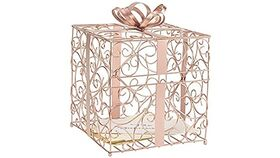 Image of a Card Box - Metal - Rose Gold