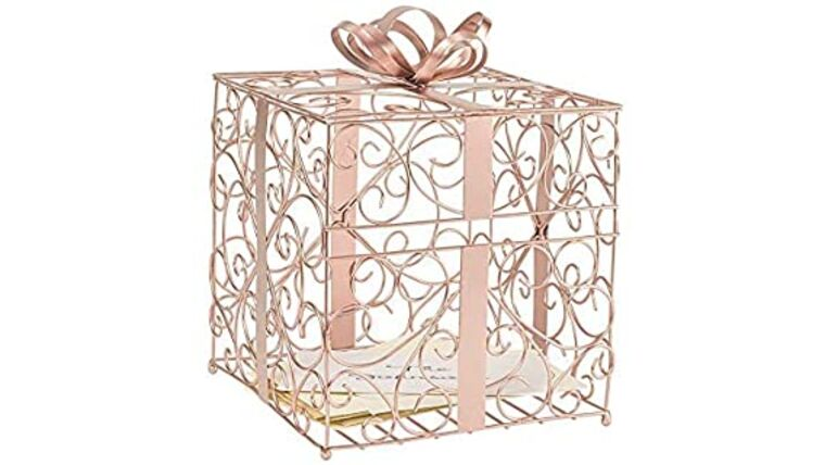 Picture of a Card Box - Metal - Rose Gold
