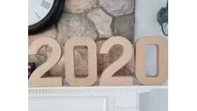 """Image of a 2020 - 12"""" stand alone numbers"""