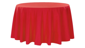 """Image of a 120"""" Red Tablecloth"""