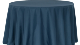 """Image of a 120"""" Navy Blue Tablecloth"""