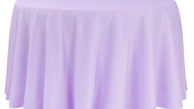 """Image of a 120"""" Lavender Tablecloth"""