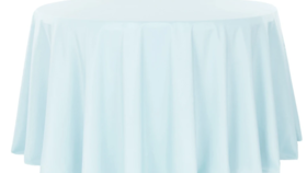 """Image of a 120"""" Baby Blue Tablecloth"""