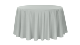 """Image of a 120"""" Silver Tablecloth"""
