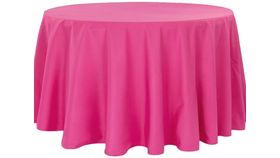 """Image of a 108"""" Fuchsia Tablecloth"""