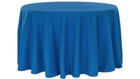 """Image of a 108"""" Royal Blue Tablecloth"""